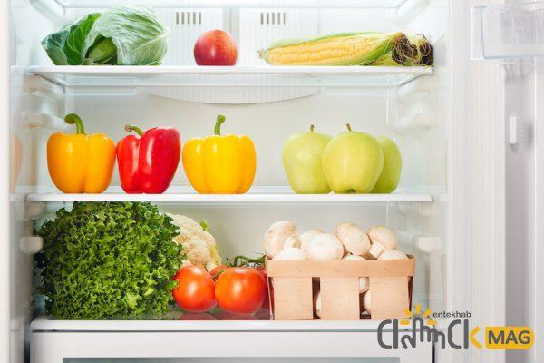 نگهداری از مواد غذای تازه در یخچال فریزر