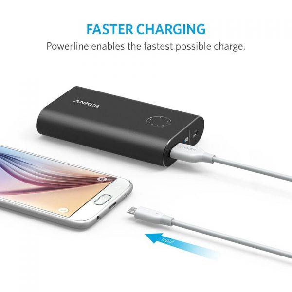 کابل تبدیل USB به microUSB انکر مدل A8133 PowerLine طول 1.8 متر