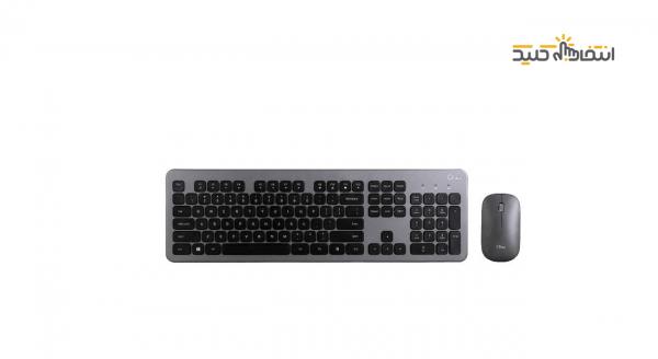ماوس و کیبورد بی سیم جی پلاس مدل CK360G-CM880G