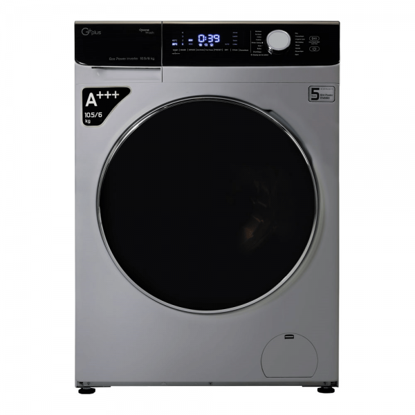 ماشین لباسشویی جی پلاس مدل GWM-KD1048T ظرفیت 10.5 کیلوگرم