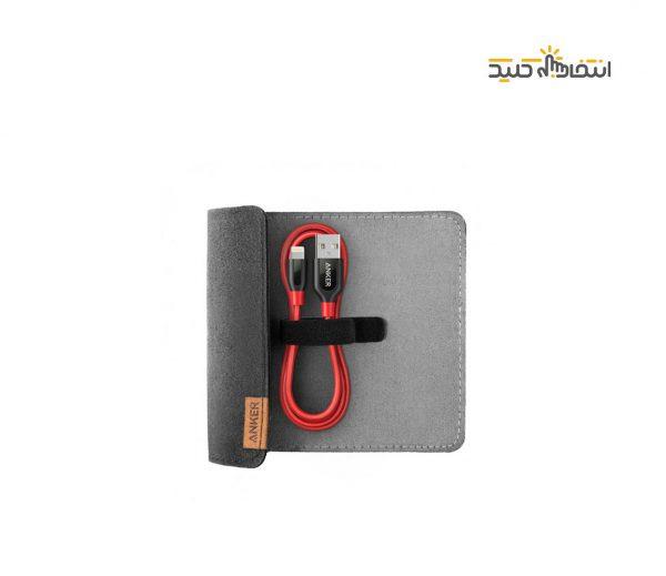 کابل تبدیل USB به لایتنینگ انکر مدل A8121 PowerLine Plus طول 0.9 متر به همراه محفظه نگهدارنده
